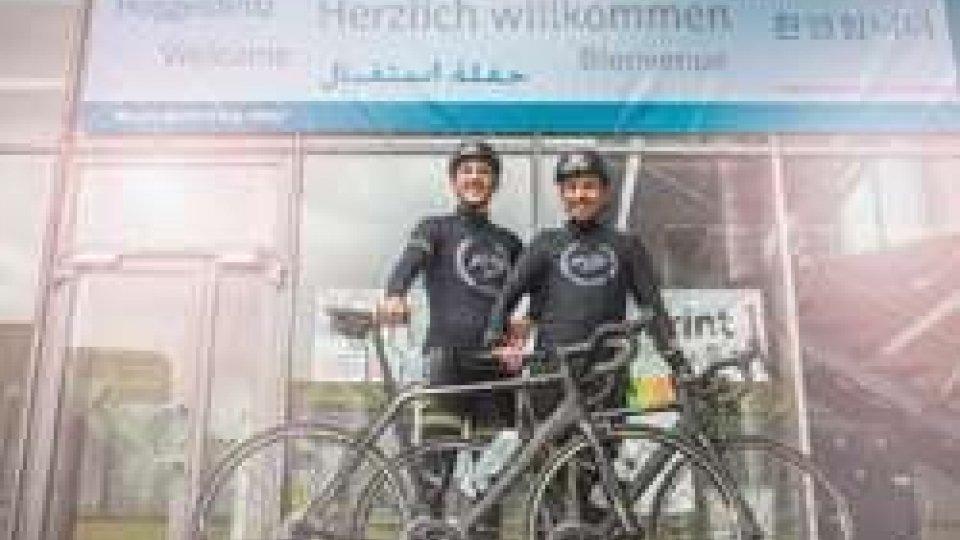 In bici dalla Germania per promuovere il centro di studi europei di Francoforte: l'università di San Marino offre il proprio supporto
