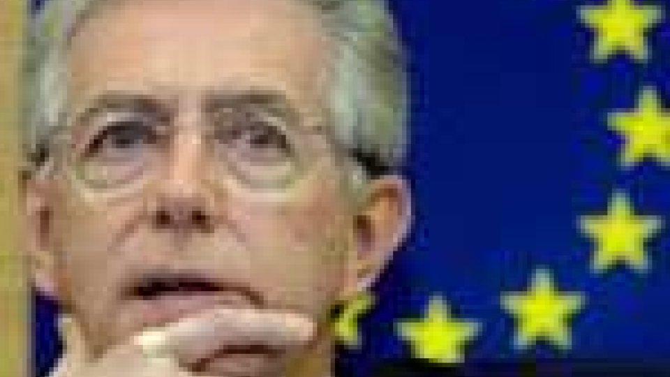 Monti a Bruxelles parla di crescita