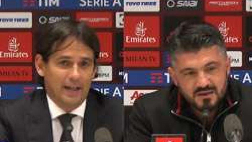 Simone Insaghi e Gennaro GattusoMilan-Lazio senza gol, il dopo gara degli allenatori