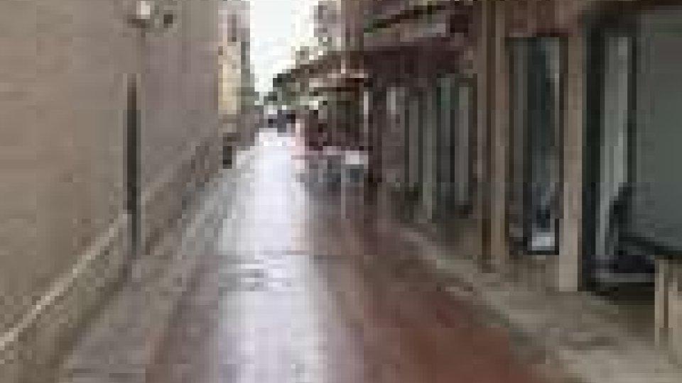 Lavori alla pavimentazione del centro storico