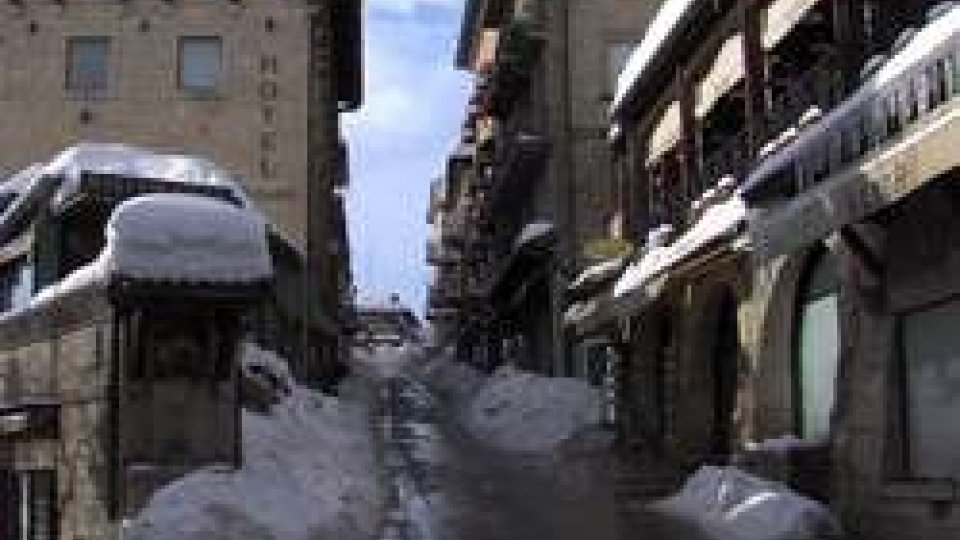 L'ultima nevicata a San Marino