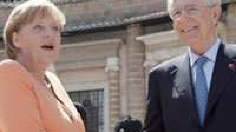 Monti-Merkel: pronti a tutto per l'euro