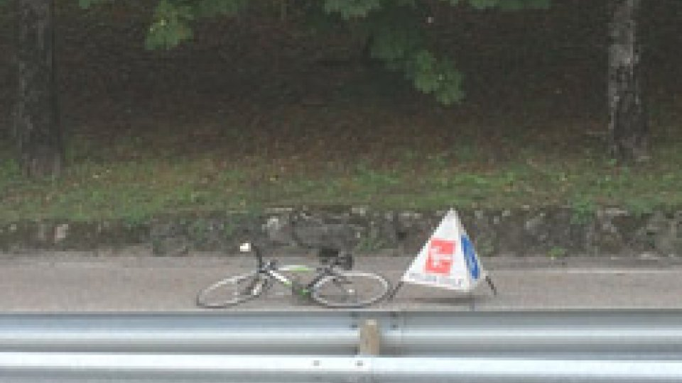 la bici dell'incidenteBorgo Maggiore: ciclista perde controllo della bici alla curva di 'bustrac'