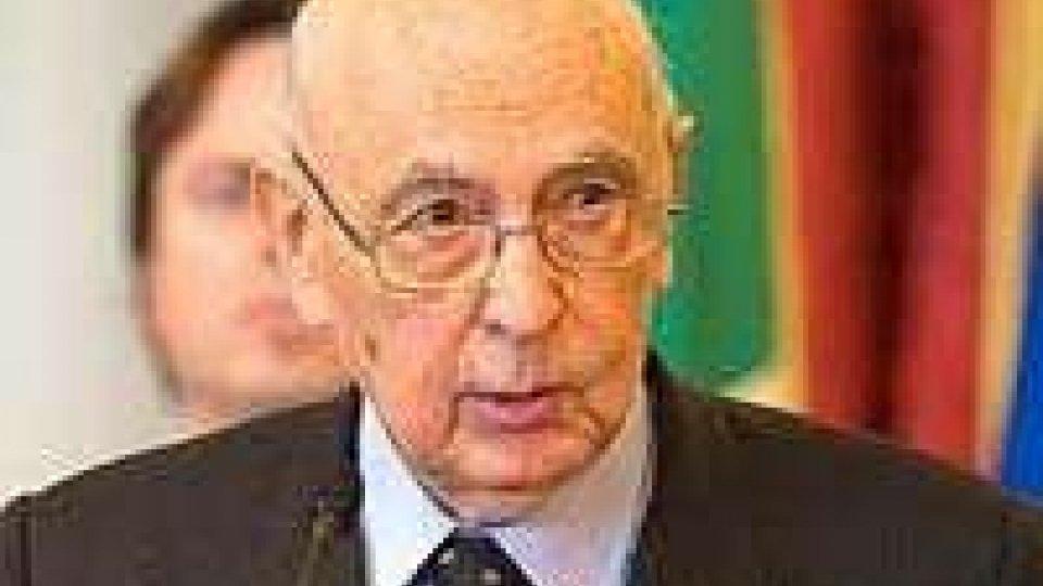 Napolitano: altro stop alle elezioni anticipate