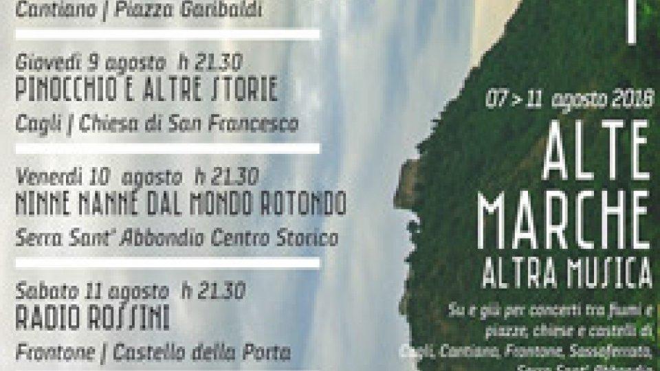 Il 7 agosto 2018 prende il via ALTE MARCHE ALTRA MUSICA