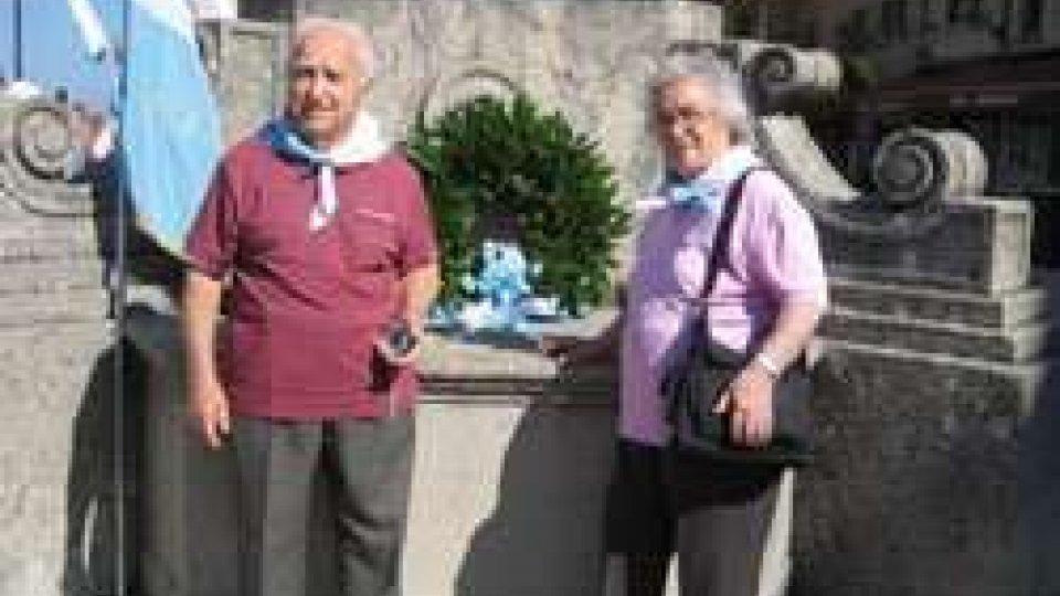 Giuseppe Maiani con la moglie, Marcellina Schiavo, sul Pianello il 28 luglio 2014Morte Maiani: domani il rito civile