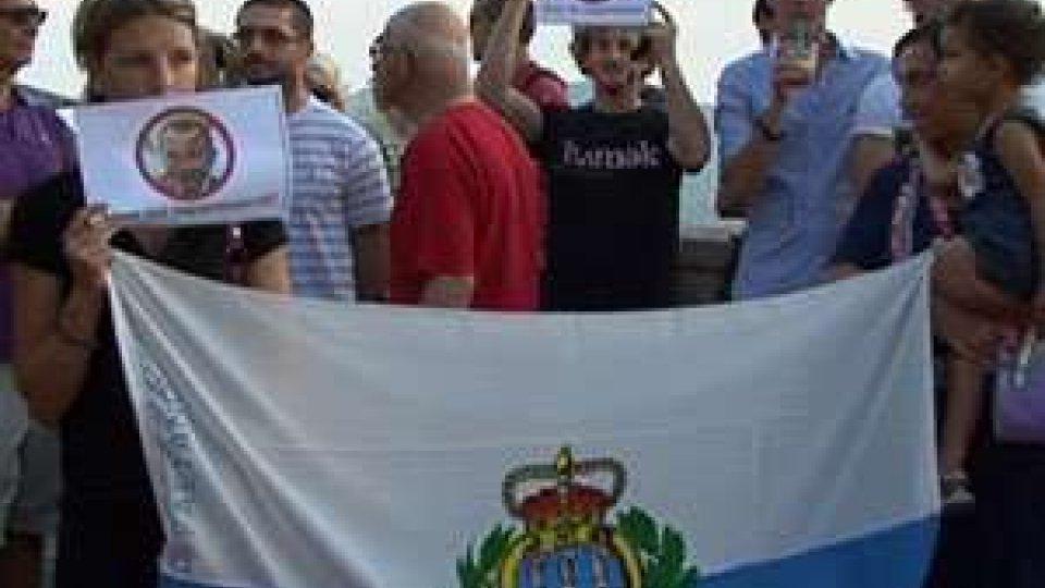 San Marino - Protesta contro Gabriele Gatti Reggente