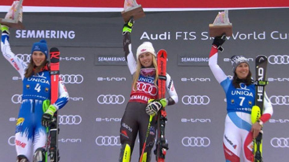 Sci: Mikaela Shiffrin vittoria in slalom e record