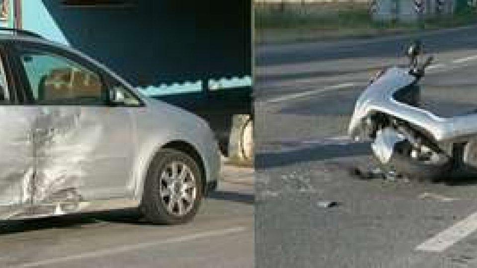 Rimini - Incidente vicino a Santa Giustina: grave 53enne scooterista