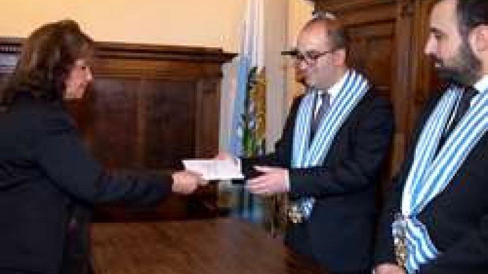 Accreditati cinque nuovi ambasciatoriSan Marino ha cinque nuovi ambasciatori
