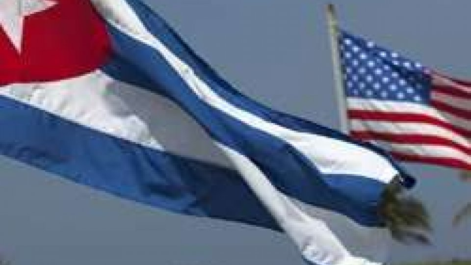 Le bandiere di Cuba e USA