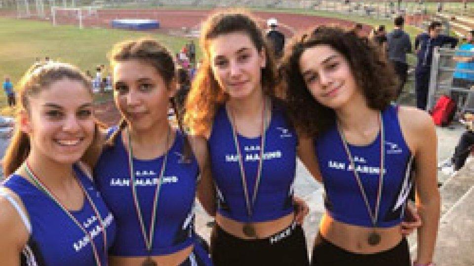 Atletica leggera: 3 nuovi record sammarinesi nelle staffette