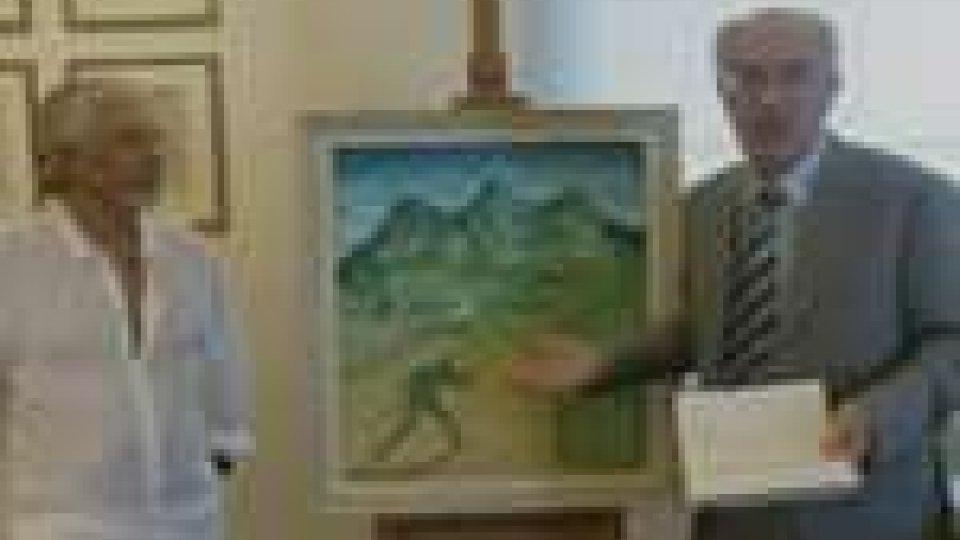 """San Marino - Lengua dona alla Fondazione l'opera omaggio alla """"sammarinesità"""""""