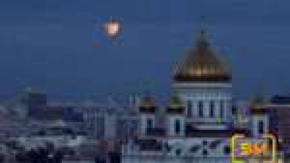 "Ieri sera la ""Luna rossa"""