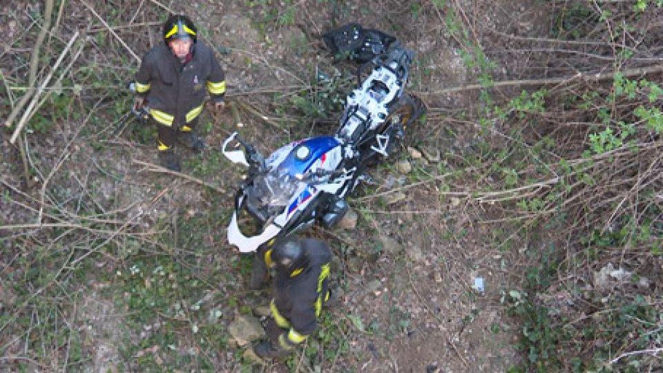 Le immagini dell'incidente[VIDEO] Pennabilli: 64enne di Verucchio muore in un incidente in moto