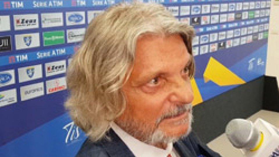 Massimo FerreroFerrero show nel dopo partita Frosinone - Samp