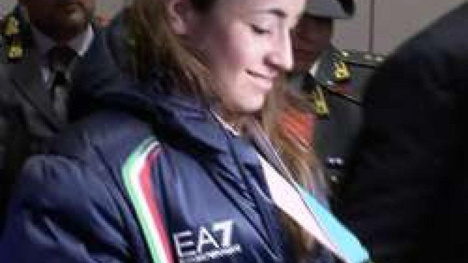 Sofia GoggiaGrande entusiasmo al rientro in patria per i medagliati di PyeongChang