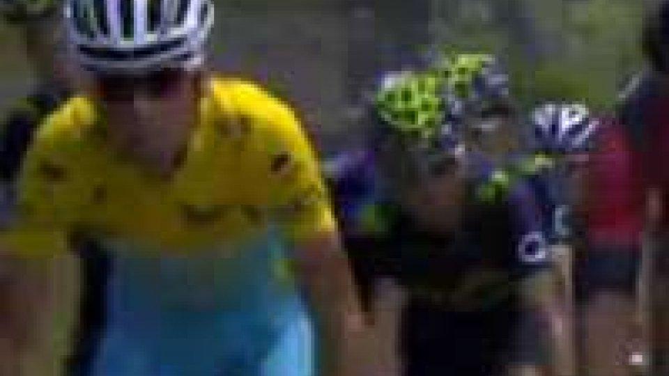 Tour de France: in discesa vince Rogers. Nibali conserva la maglia giallaTour de France: in discesa vince Rogers. Nibali conserva la maglia gialla