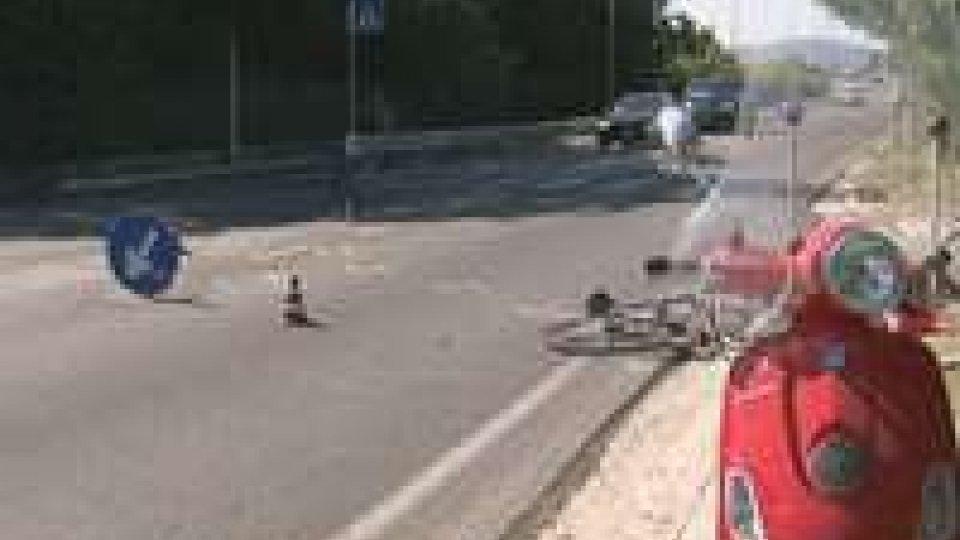 Incidente bici-moto a Misano: ciclista al Bufalini