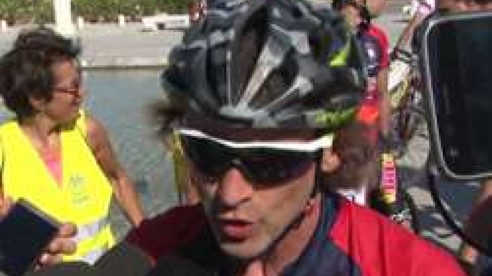 Davide NicolaVoto-salvezza, Davide Nicola in bici fa tappa a Pescara