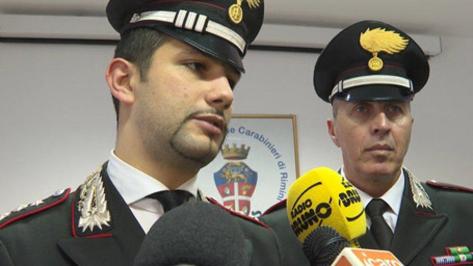 Il sequestro a Riccione dei Carabinieri24enne Ceca, residente a San Marino, arrestata per spaccio dai carabinieri di Cattolica