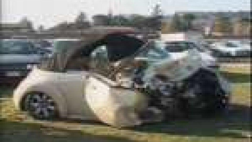 L'auto dopo la collisione