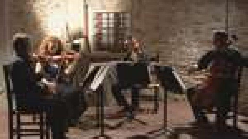 """San Marino - Il quartetto """"Il Cortile delle Palme"""" protagonista di Musica nel Chiostro"""
