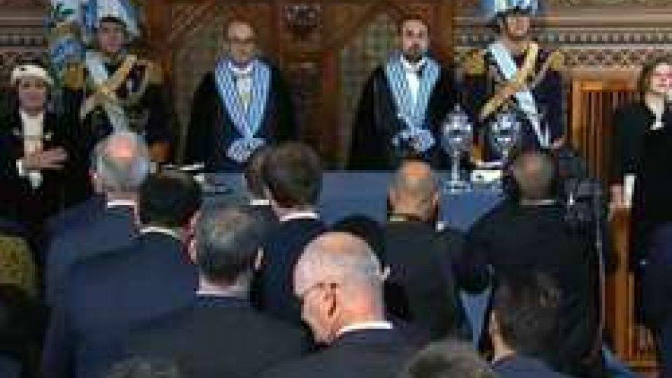 Matteo Fiorini e Enrico CarattoniMatteo Fiorini e Enrico Carattoni sono i nuovi Capitani Reggenti