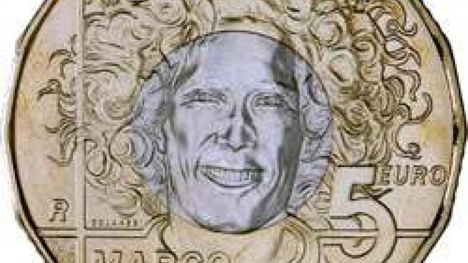 """Moneta bimetallica da 5 euro denominata """"30° anniversario della nascita di Marco Simoncelli"""""""