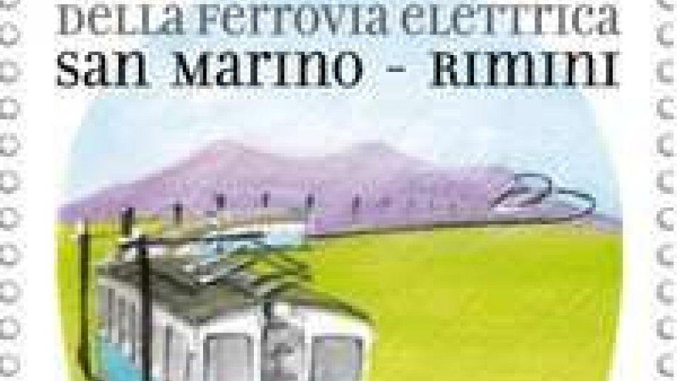 Emissione filatelica 80° Anniversario della ferrovia elettrica San Marino-Rimini