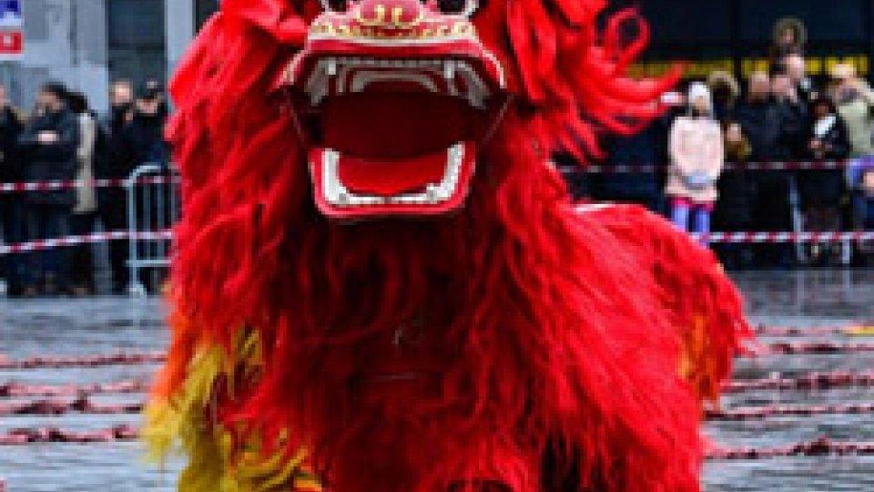 Danza del leone al Capodanno cinese
