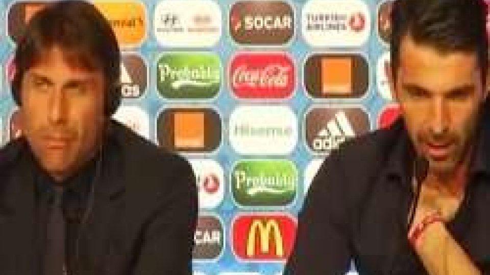 """Conte e Buffon in conferenza stampaEuro2016, Conte: """"Pochi ritocchi, non siamo stanchi"""""""