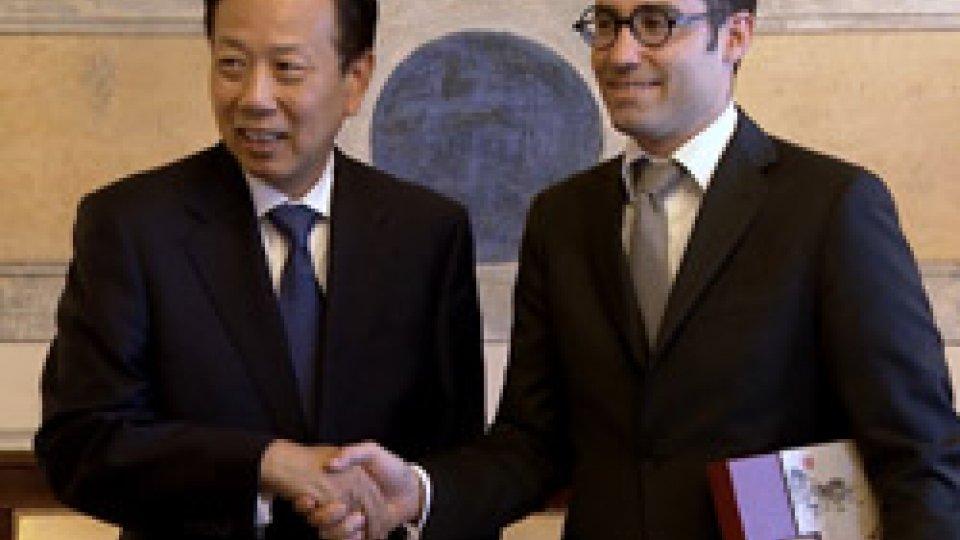 Li Ruiyu e Nicola Renzi