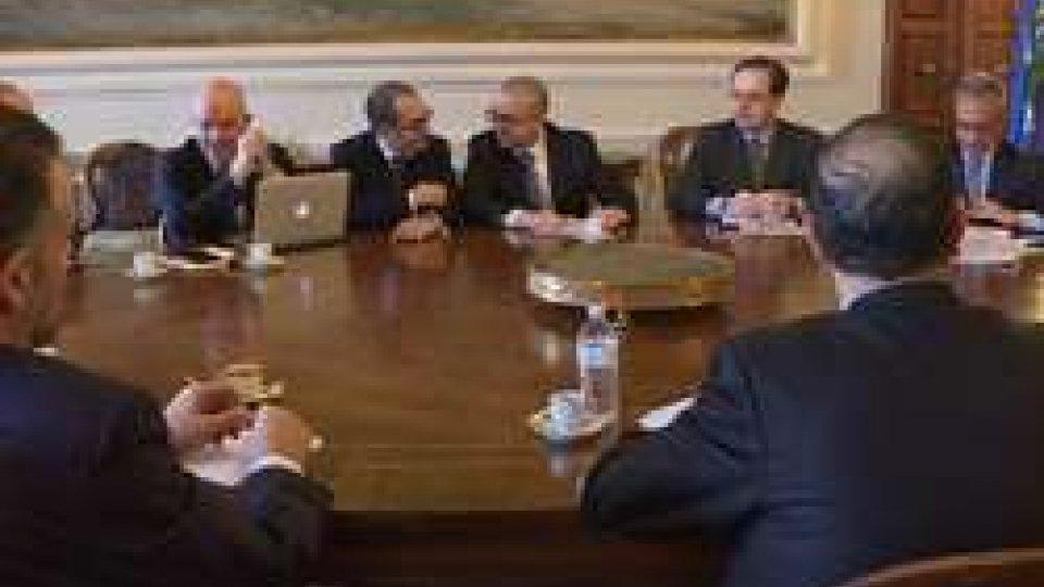 L'incontro con il segretario Simone CelliBanche: collaborazione rafforzata dopo l' incontro tra Governo, Abs e istituti
