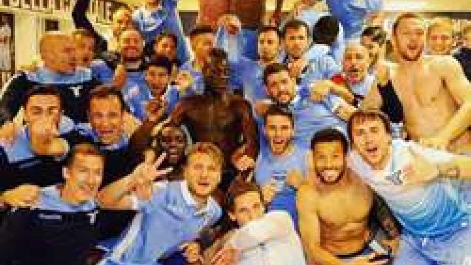 Lazio (ph Twitter)Coppa Italia, vince la Roma, ma Lazio in finale.