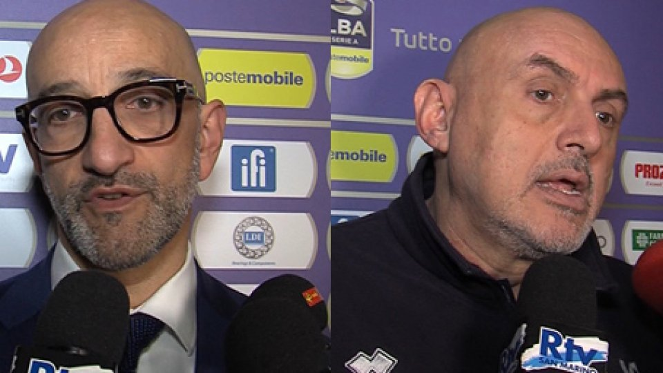 """Francesco Vitucci - Matteo BoniciolliVL Pesaro, la diagnosi di Boniciolli: """"E' pollitudine"""""""