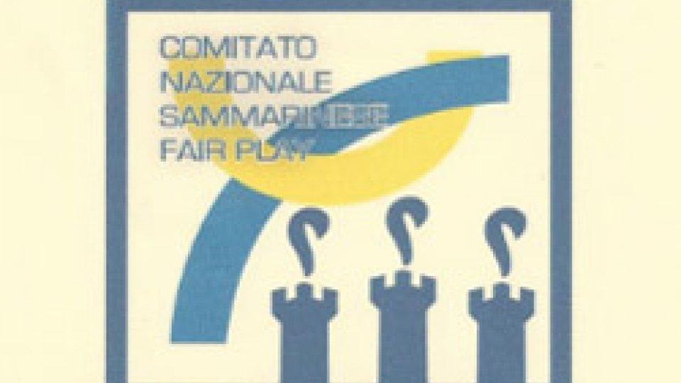 "Comitato Nazionale Sammarinese Fair Play: ""FAIR PLAY FLAME"" AWARDS EFPM saranno consegnati a San Marino"