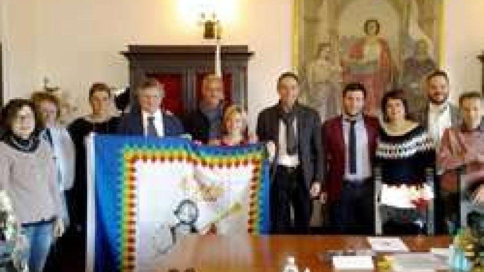 Delegazione di Tolentino in visita al Castello di Serravalle