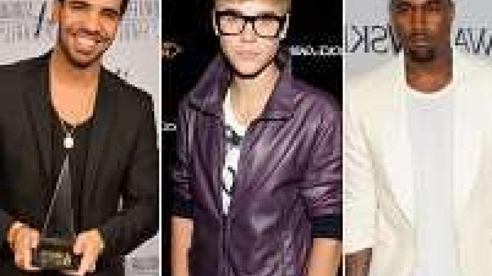 Bieber, West e Drake contro i Grammy