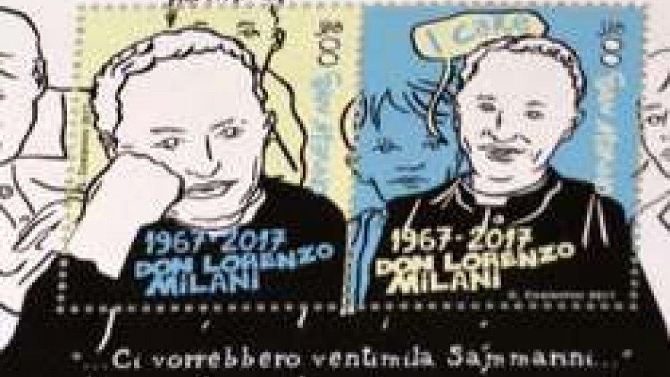 """I francobolli dedicati a Don Milani""""Se ci fossero 20mila Sammarini..."""": i nuovi francobolli dedicati a Don Milani"""
