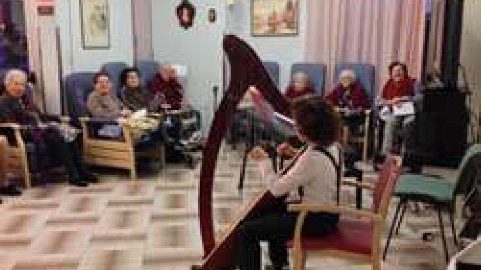 Piccolo concerto degli allievi dell'IMS per gli ospiti della Casa di Riposo