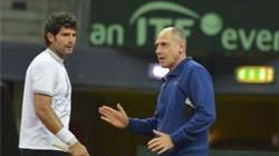 Simone Bolelli e Corrado BarazzuttiCoppa Davis: l'Italia ospiterà la Svizzera all'Adriatic Arena di Pesaro