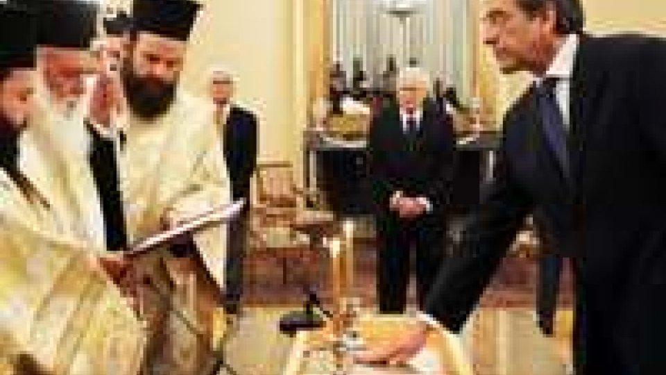 Grecia, giuramento da premier di Antonis Samaras