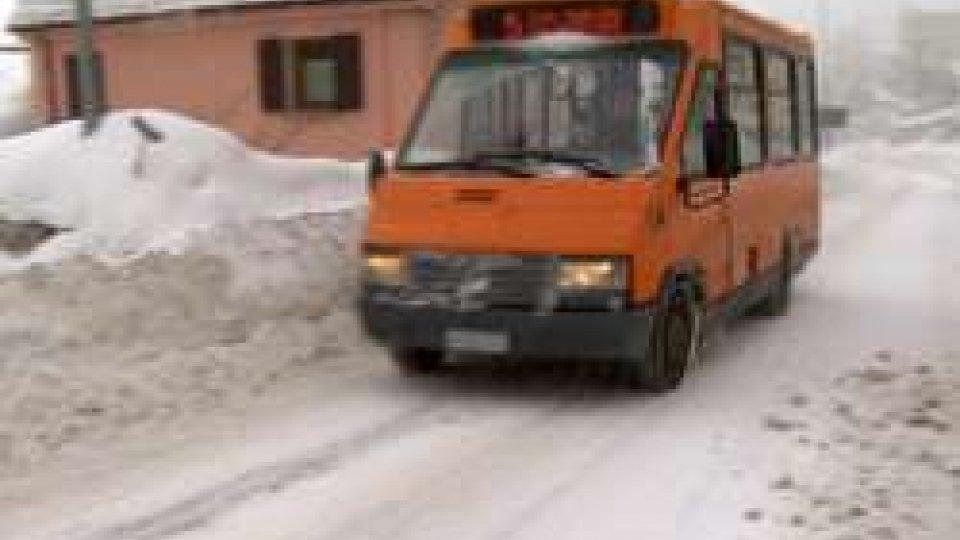 Ghiaccio: a San Marino trasporto pubblico attivo su tutte le linee