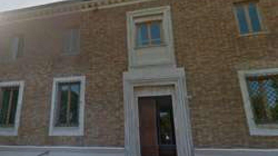 L'ufficio del comune di Misano dove si è verificato l'episodio