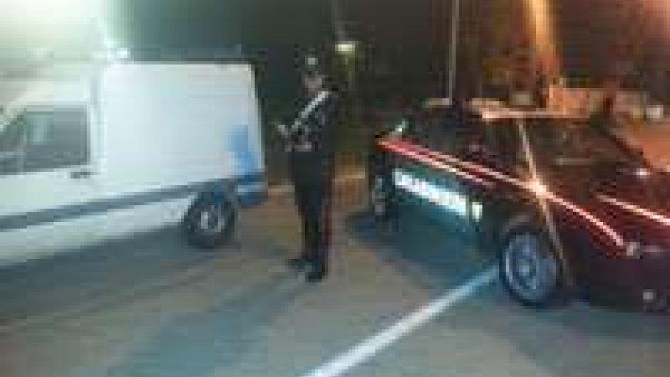 Ritrovato furgone rubato a sammarinese
