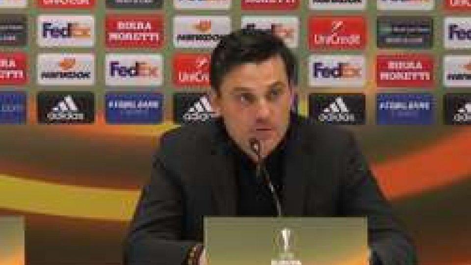 Il tecnico del Milan MontellaMontella: Obiettivo minimo raggiunto, ora risaliamo in campionato. Bello rivedere Kaka - intervista a Montella