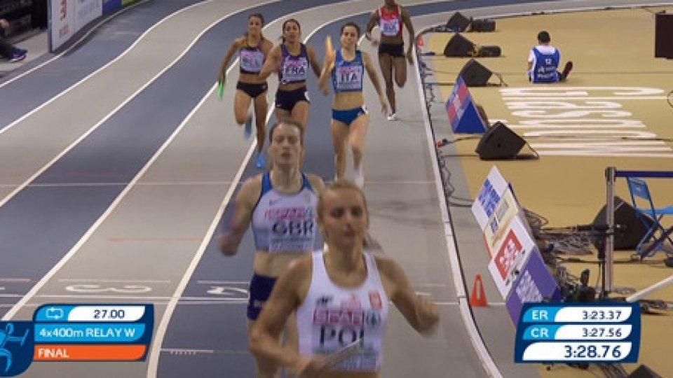 Europei di AtleticaL'Italia saluta gli Europei di Atletica con il bronzo nella 4x400 donne