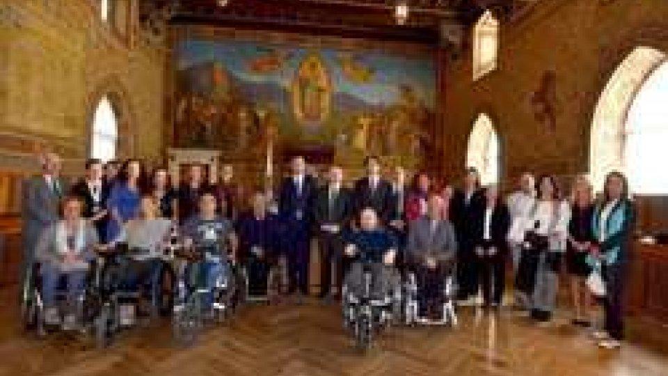 """Udienza a Palazzo Pubblico""""Turismo per tutti"""": San Marino e l'accessibilità nella Giornata Mondiale OMT"""