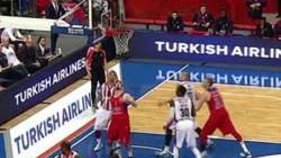 Basket: Cska Mosca-Stella Rossa 77-76Basket: Cska Mosca-Stella Rossa 77-76